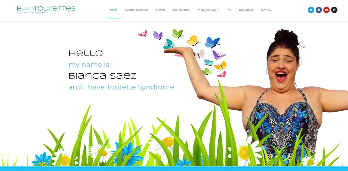Bianca Saez and I have Tourette Syndrome